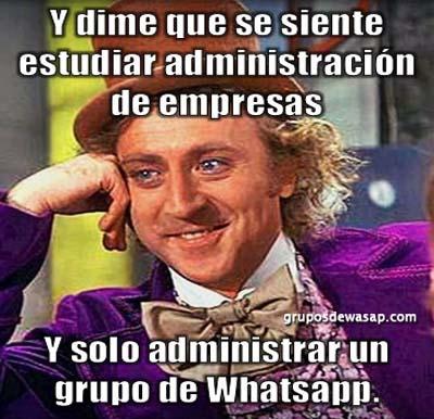 Meme administrar solo un grupo de WhatsApp