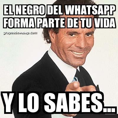 Meme el negro del WhatsApp