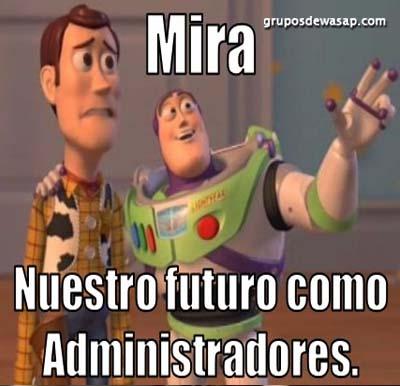 Meme nuestro futuro como administradores