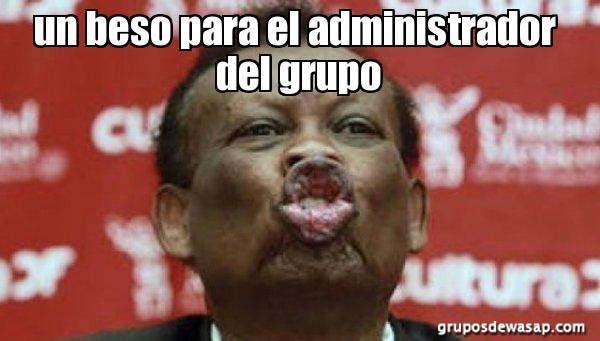 Meme un beso para el administrador