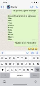 juego para whatsapp encuentra el error