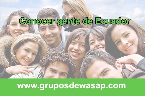 grupo de whatsapp para conocer gente de Ecuador