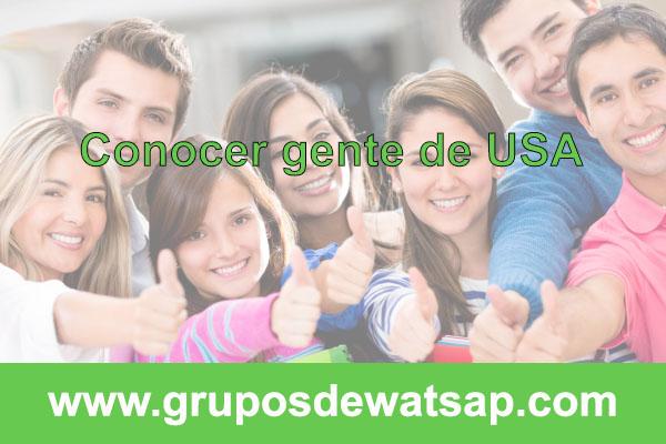 grupo de wasap conocer gnete de estados unidos