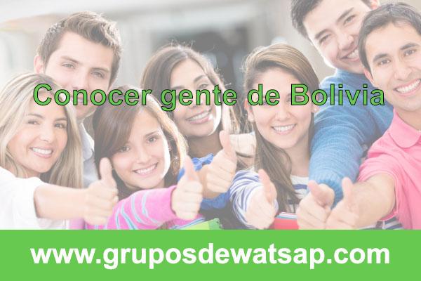 grupo de wasap para conocer gente de Bolivia