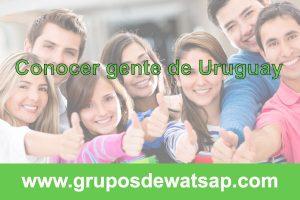 grupo de wasap para conocer gente de Uruguay