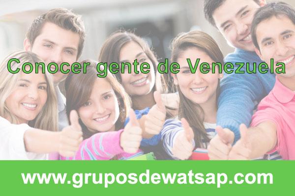 grupo de wasap para conocer gente de Venezuela